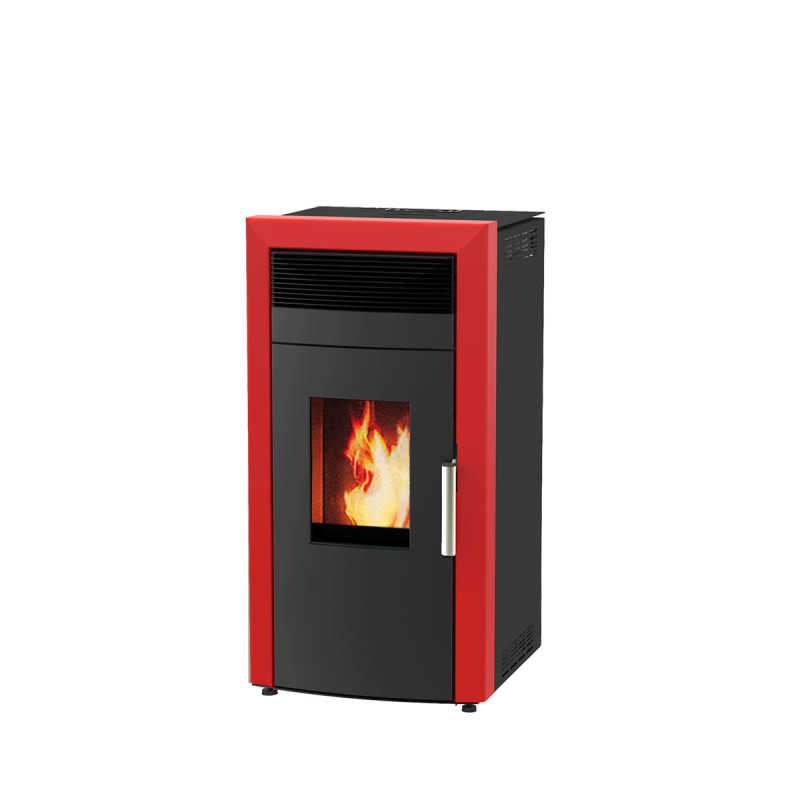 Alfa Plam peć na pelet za etažno grejanje COMMO 15 CRVENA