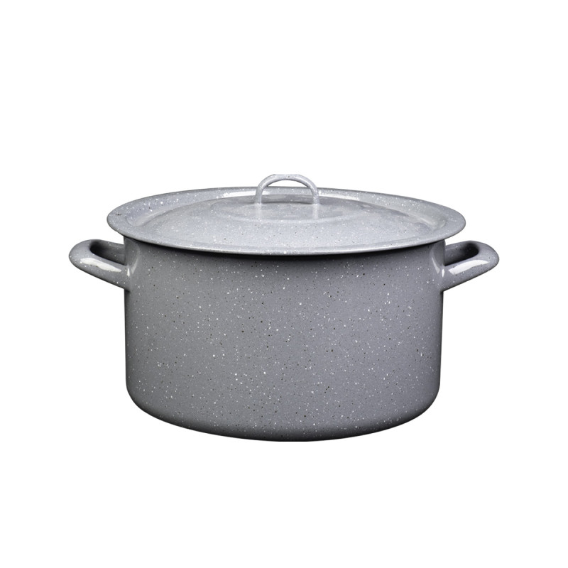 Metalac duboka šerpa PRSKANO SIVO 30cm/12,5lit