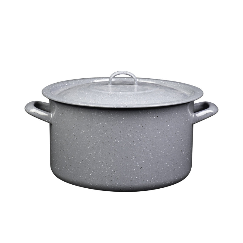 Metalac duboka šerpa PRSKANO SIVO 32cm/16lit