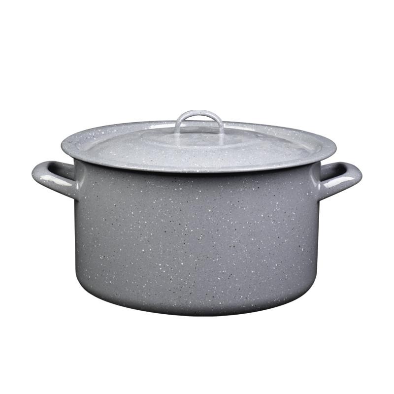 Metalac duboka šerpa PRSKANO SIVO 34cm/23,5lit