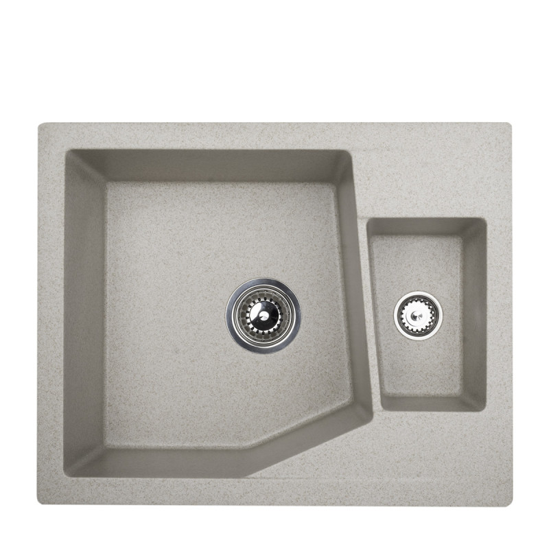 Metalac granitna sudopera xLinea M 1.5D bež 620x500 Ø90