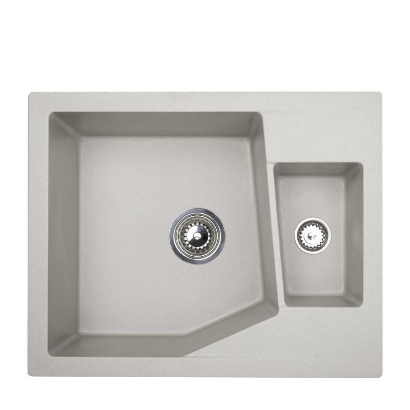 Metalac granitna sudopera xLinea M 1.5D siva 620x500 Ø90