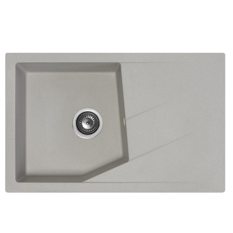 Metalac granitna usadna sudopera xLinea Plus siva 780x500 Ø90