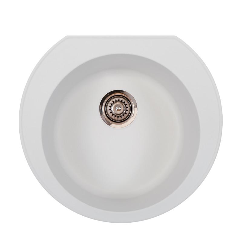 Metalac granitna usadna sudopera xOmega E520 bela Ø90