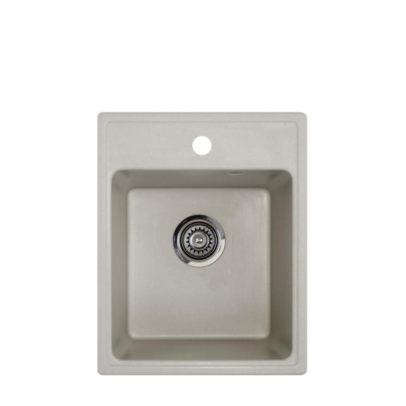 Metalac granitna usadna sudopera xQuadro 40 šampanj 400x500 Ø90
