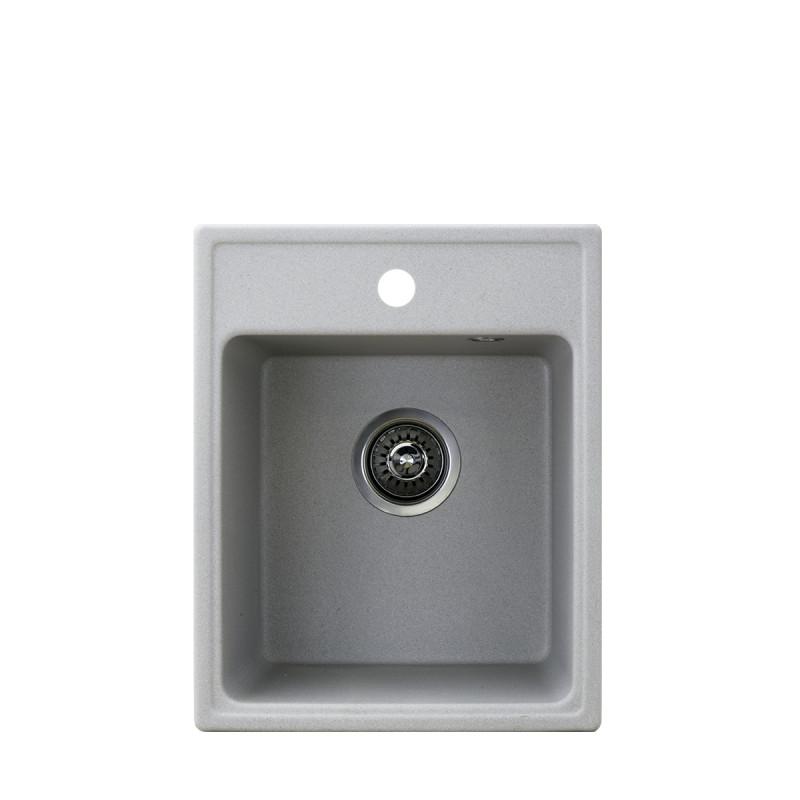Metalac granitna usadna sudopera xQuadro 40 siva 400x500 Ø90