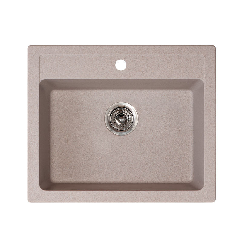 Metalac granitna usadna sudopera xQuadro 60 bež 600x500 Ø90
