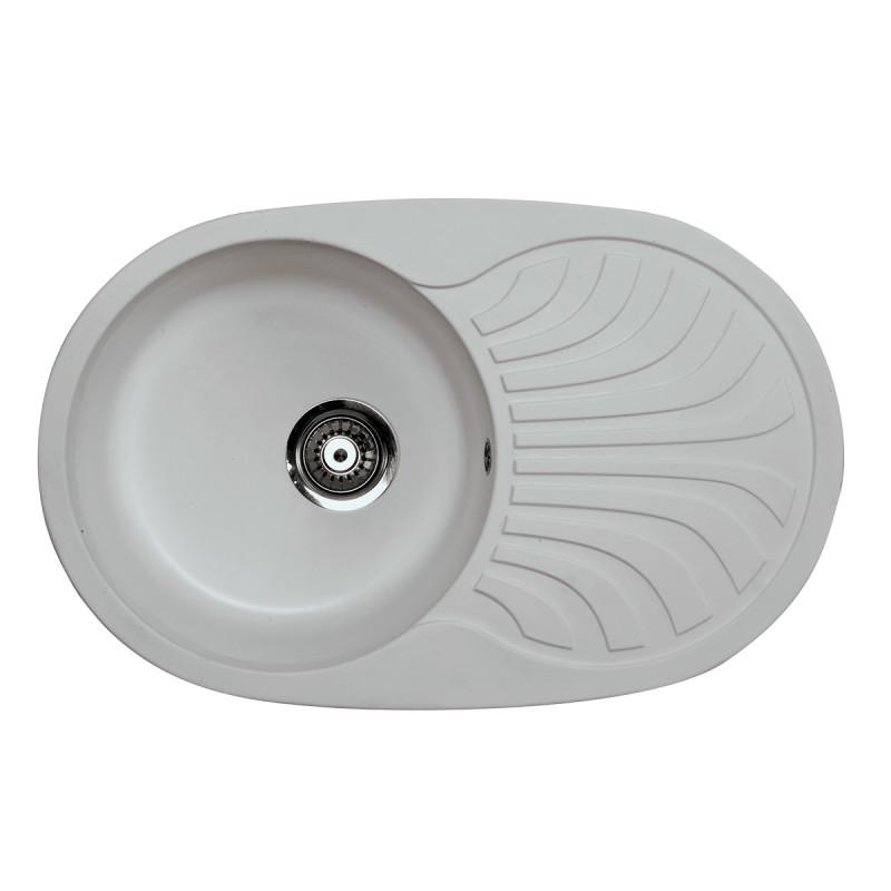 Metalac granitna usadna sudopera xVenera Plus siva 780x500 Ø90