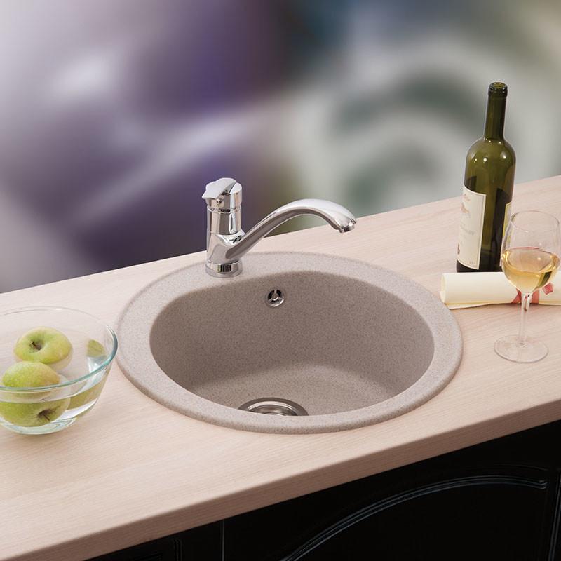 Metalac granitna usadna sudopera xVenera šampanj E510 ø90