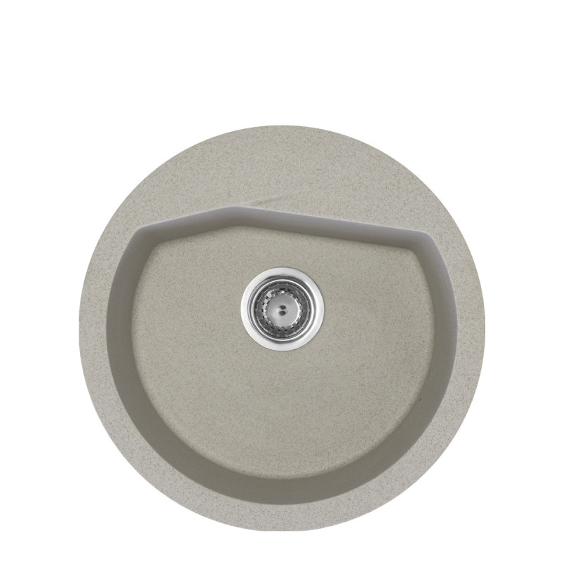 Metalac granitna usadna sudopera xVesta bež E520 ø90