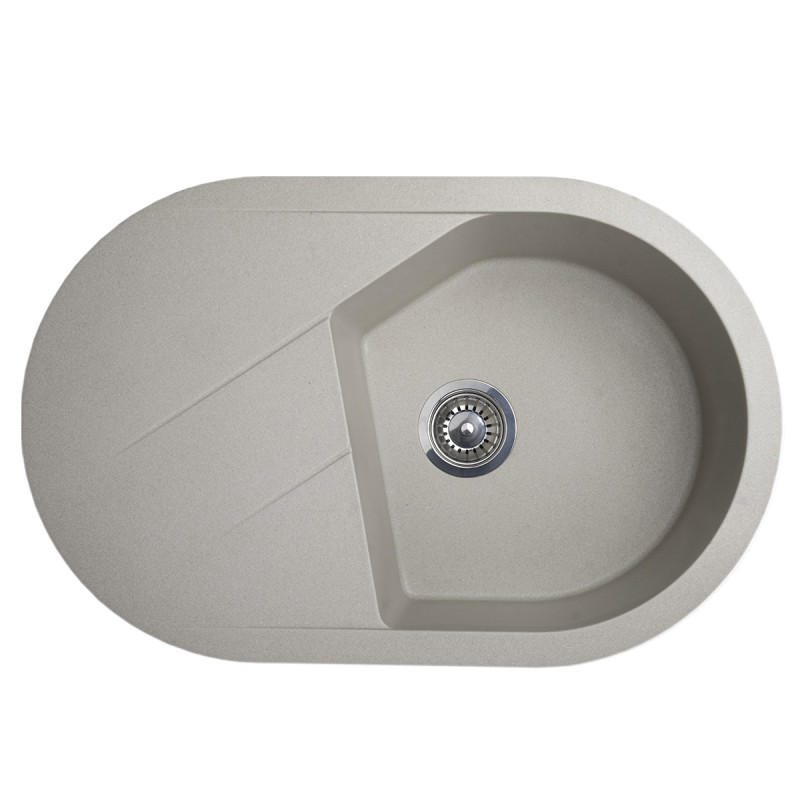 Metalac granitna usadna sudopera xVesta Plus siva 780x500 ø90