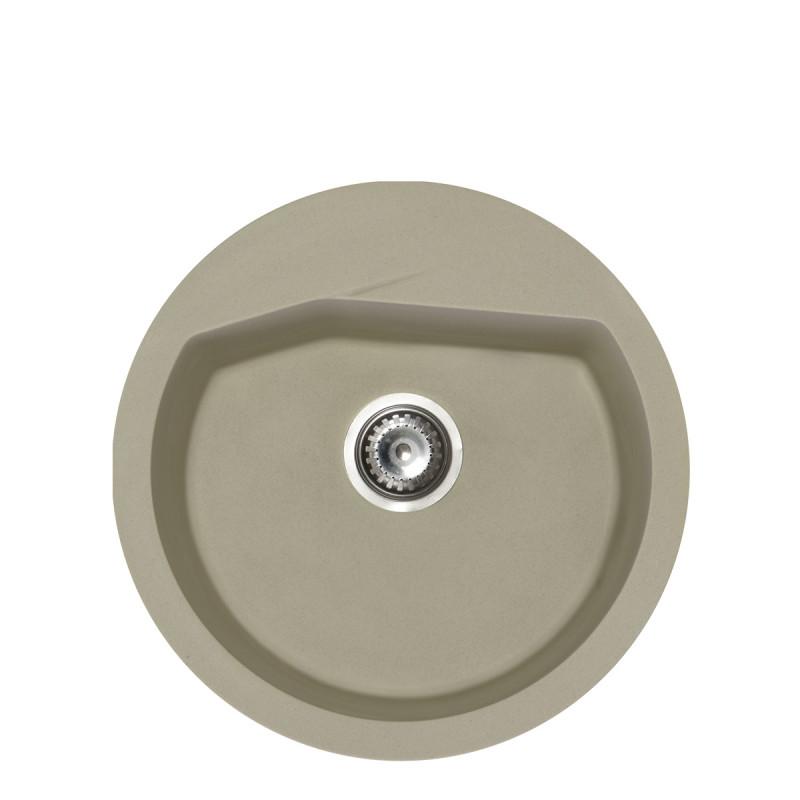 Metalac granitna usadna sudopera xVesta šampanj E520 ø90