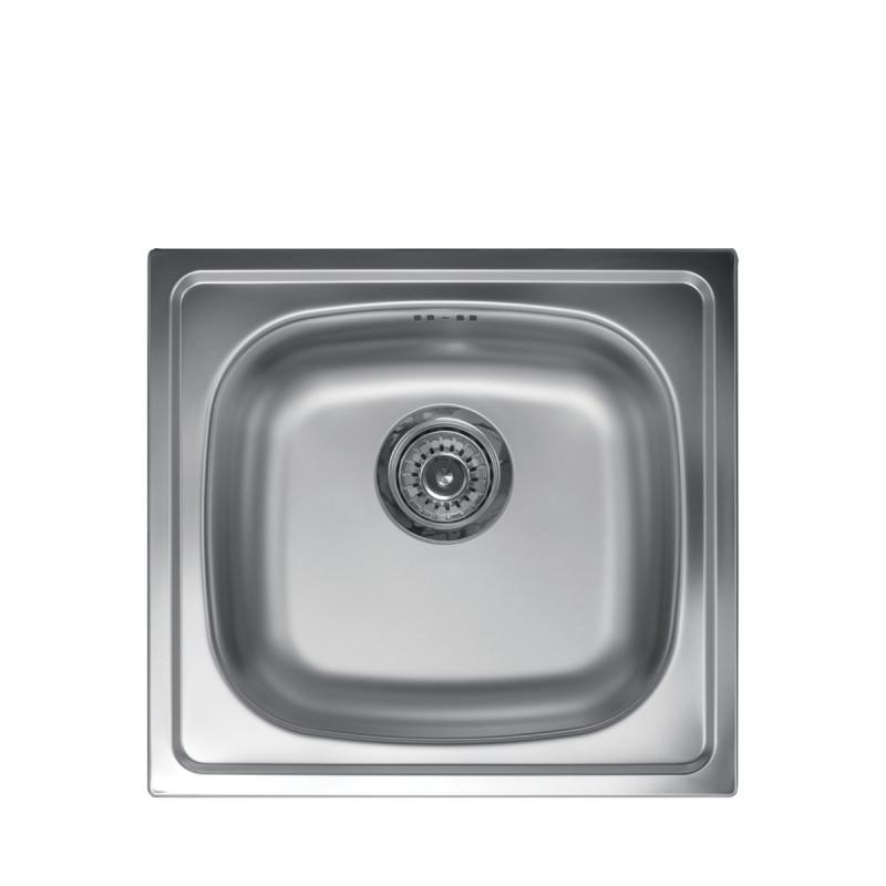 Metalac inox usadna sudopera Quadro ø90