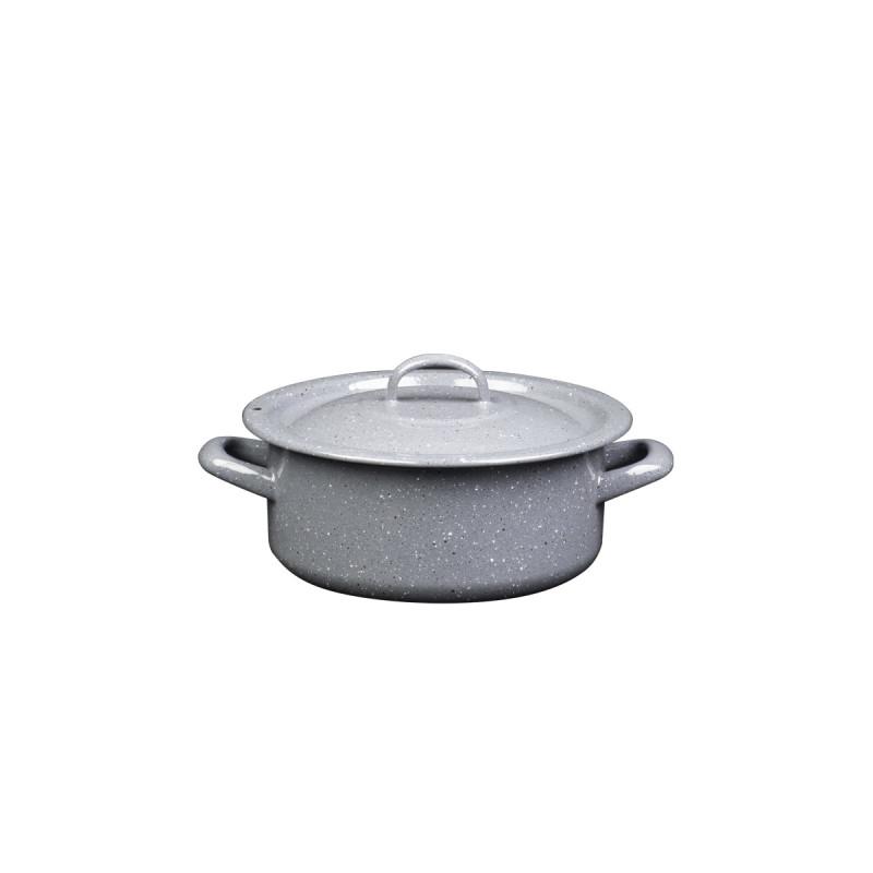 Metalac plitka šerpa PRSKANO SIVO 20cm/2,8lit