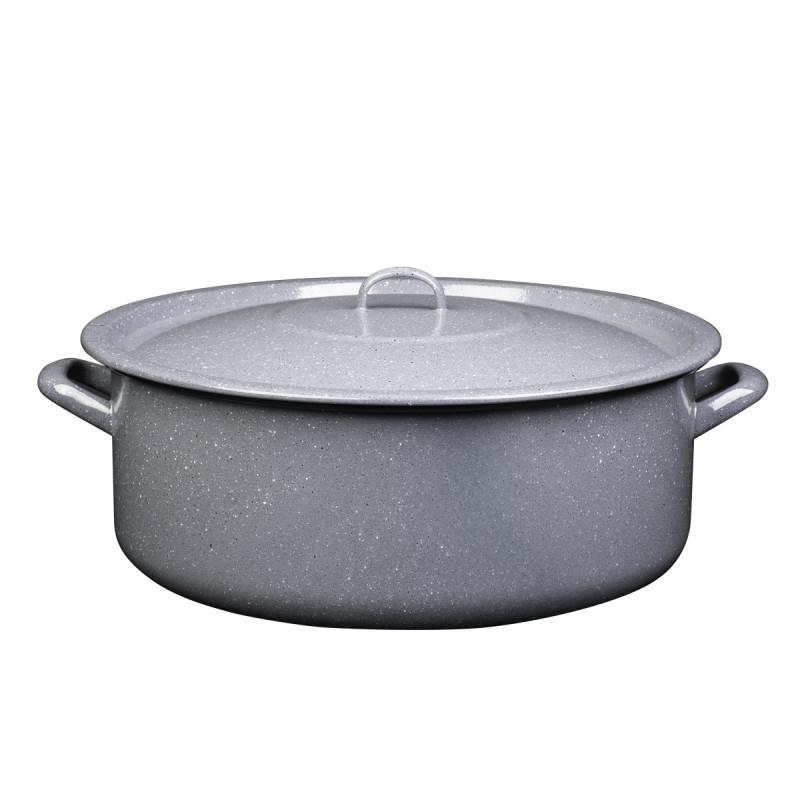 Metalac plitka šerpa PRSKANO SIVO 40cm/20lit