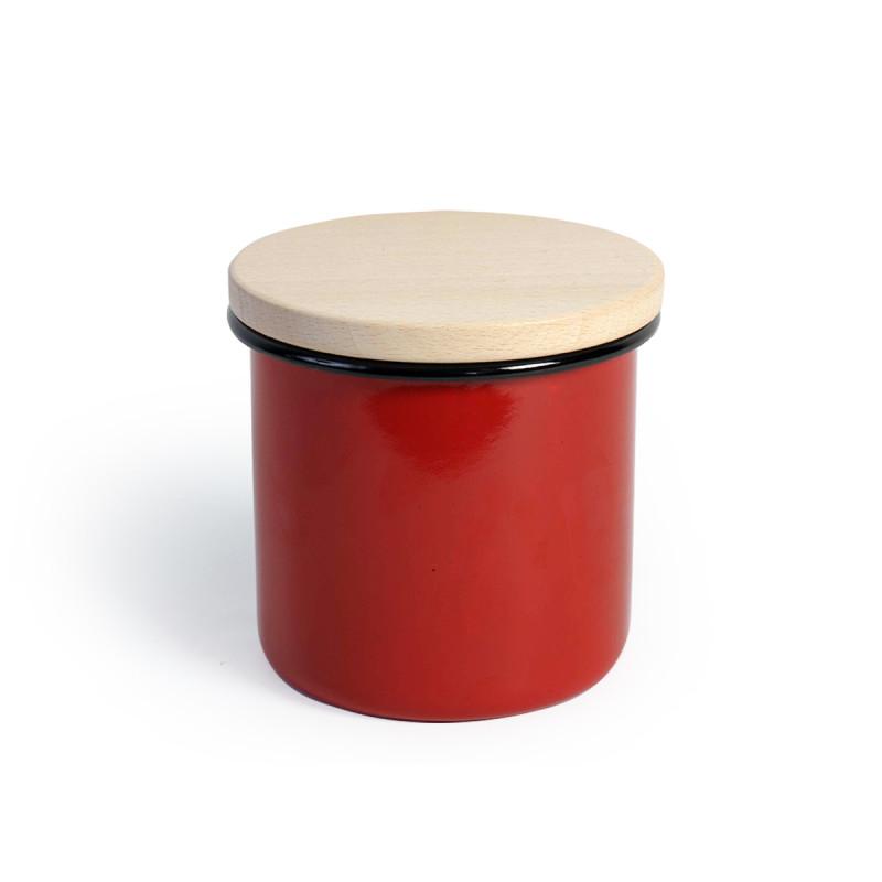 Metalac posuda za čuvanje hrane CRVENA 12cm/1,35lit