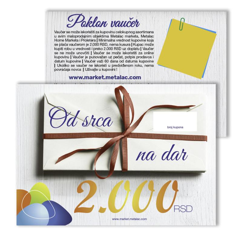 Poklon vaučer - 2.000rsd