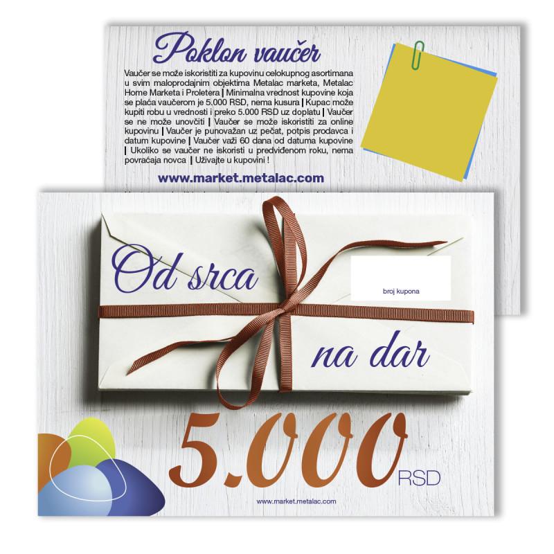 Poklon vaučer - 5.000rsd