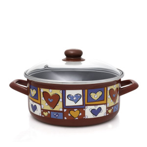 Metalac plitka šerpa HAPPY HEARTS 24cm/4,75l