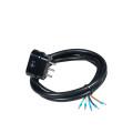 Commel priključni kabl trofazni 16A 400V 10000W Crni 1,5m H05VV-F 5G2,5