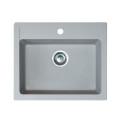 Metalac granitna usadna sudopera xQuadro 60 siva 600x500 Ø90