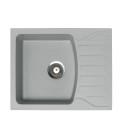 Metalac granitna usadna sudopera xQuadro M siva 620x500 Ø90