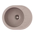 Metalac granitna usadna sudopera xVenera M bež 620x500 Ø90