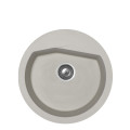 Metalac granitna usadna sudopera xVesta siva E520 ø90